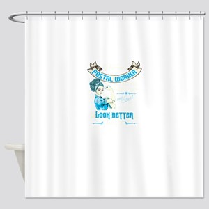 Women Postal Worker Shower Curtain