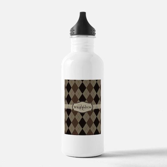 Cute Monogram for men Water Bottle