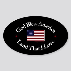 God Bless America Oval Sticker