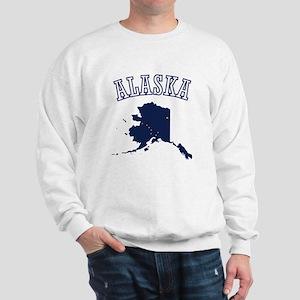 Alaska Map Design Sweatshirt