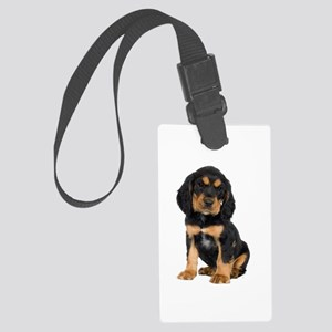 Rottweiler Pup Large Luggage Tag