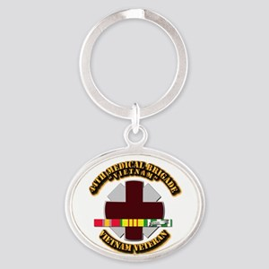 Army DUI - 44th Medical Bde w SVC Ribbons Oval Key