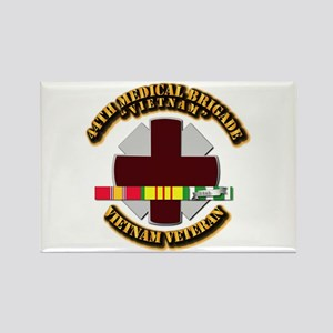 Army DUI - 44th Medical Bde w SVC Ribbons Rectangl