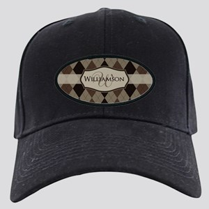 Brown Argyle Monogram Name Baseball Hat