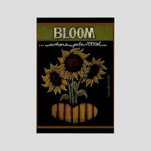 Bloom Rectangle Magnet