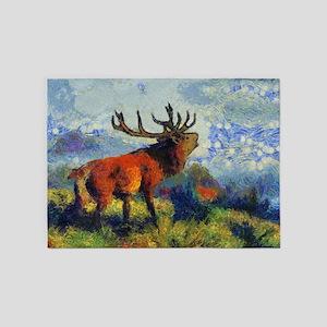 Surreal Elk 5'x7'Area Rug