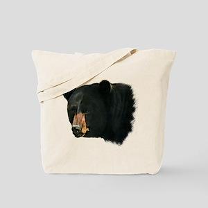 Brown Nose Bear Tote Bag