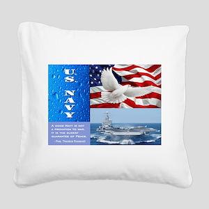 U.S. Navy Square Canvas Pillow