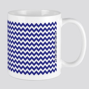 Chevron Blue Mug
