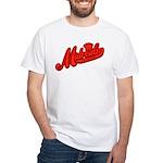 Midrealm Red Retro White T-Shirt
