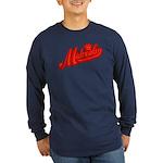 Midrealm Red Retro Long Sleeve Dark T-Shirt
