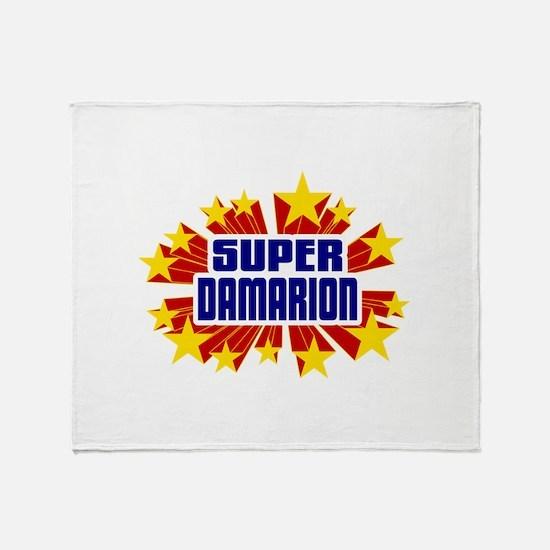 Damarion the Super Hero Throw Blanket