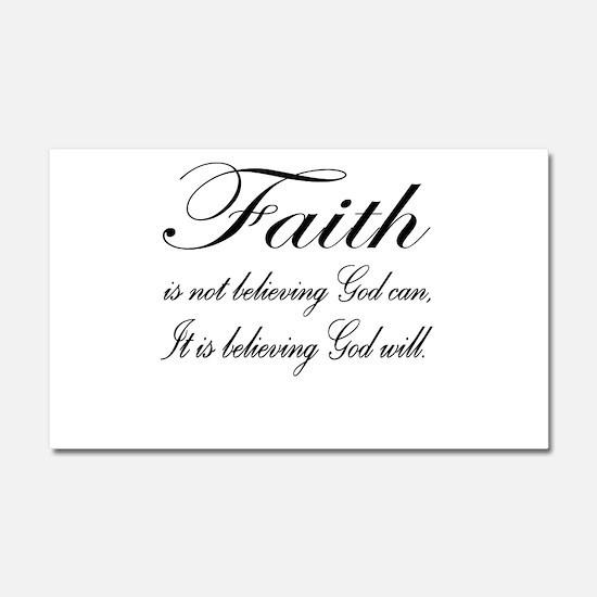 Faith Car Magnet 12 x 20