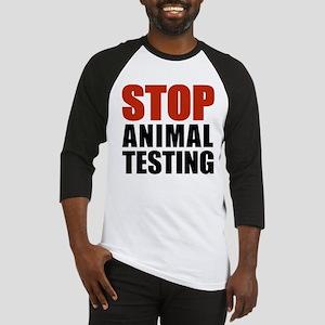 Stop Animal Testing Baseball Jersey