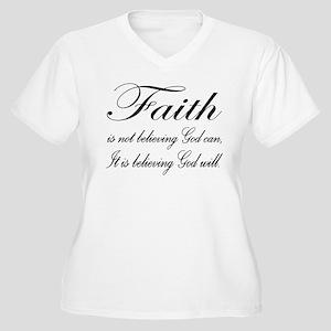 Faith Women's Plus Size V-Neck T-Shirt