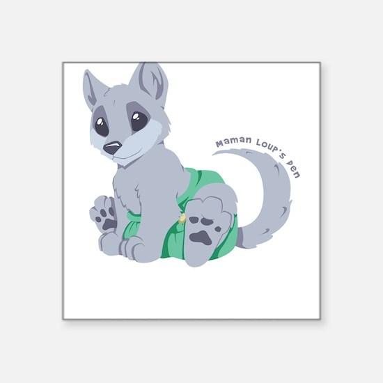 My cub wears cloth 2 (white) Sticker