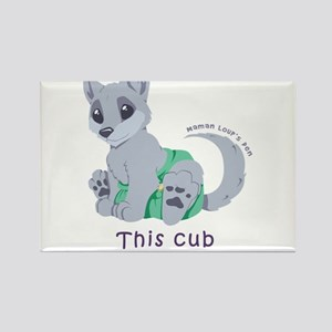 This cub wears cloth 2 (purple) Rectangle Magnet