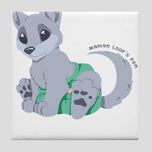 This cub wears cloth 2 (white) Tile Coaster