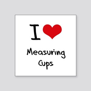 I Love Measuring Cups Sticker
