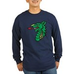 Midrealm Dragon Head Long Sleeve Dark T-Shirt
