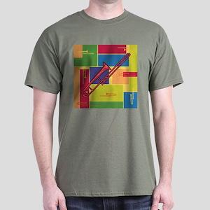 Trombone Colorblocks Dark T-Shirt