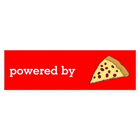 Powered By Pizza Sticker (Bumper)