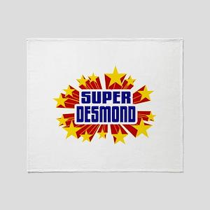 Desmond the Super Hero Throw Blanket