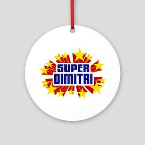 Dimitri the Super Hero Ornament (Round)