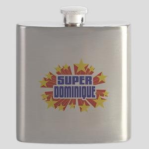 Dominique the Super Hero Flask