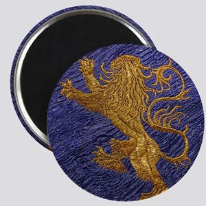 Rampant Lion - gold on blue Magnet