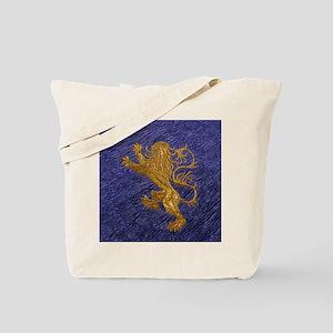 Rampant Lion - gold on blue Tote Bag