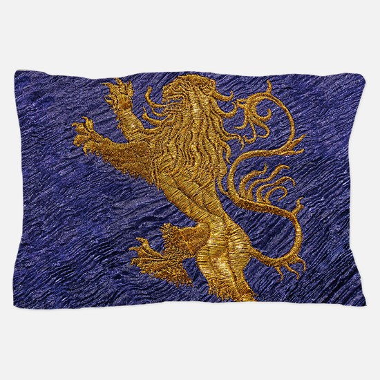 Rampant Lion - gold on blue Pillow Case