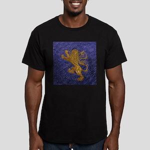 Rampant Lion - gold on blue T-Shirt