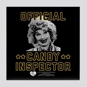 Lucy Candy Inspector Tile Coaster