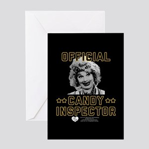 Lucy Candy Inspector Greeting Card