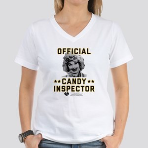 Lucy Candy Inspector Women's V-Neck T-Shirt