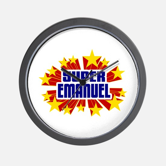 Emanuel the Super Hero Wall Clock