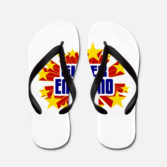 Emiliano the Super Hero Flip Flops