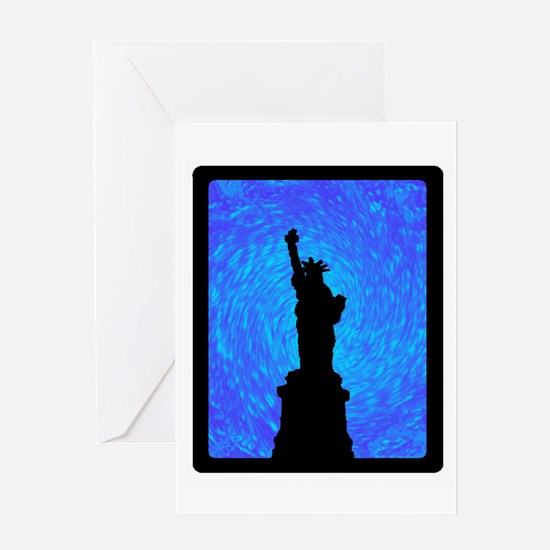 STANDS FOR LIBERTY Greeting Cards
