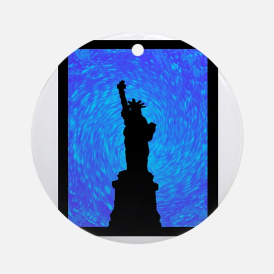 STANDS FOR LIBERTY Round Ornament