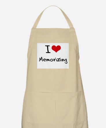 I Love Memorizing Apron