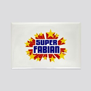 Fabian the Super Hero Rectangle Magnet