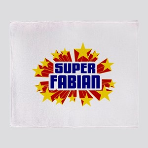 Fabian the Super Hero Throw Blanket