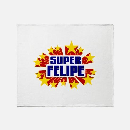 Felipe the Super Hero Throw Blanket