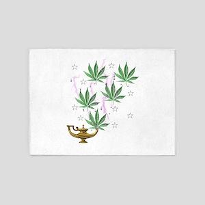 Magic Marijuana Art 5'x7'Area Rug