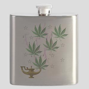 Magic Marijuana Art Flask