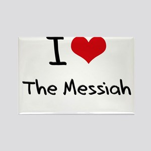 I Love The Messiah Rectangle Magnet