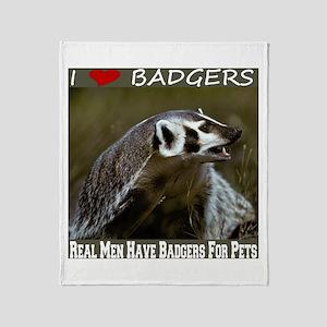 Real Men Love Badgers Throw Blanket