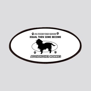 Funny Affenpinscher dog mommy designs Patches