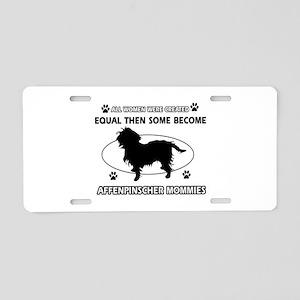 Funny Affenpinscher dog mommy designs Aluminum Lic